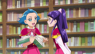 Jun y Riko en la libreria