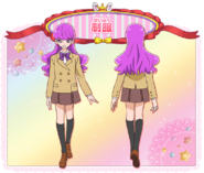 Perfil de Yukari con su uniforme escolar (Toei Animation)