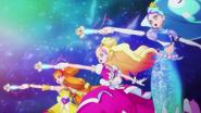 Princess precure girando sus varas