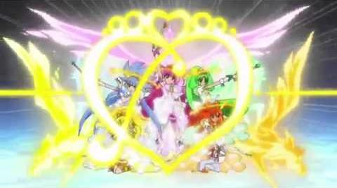Smile pretty cure princess form rainbow burst