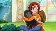SmPC07 Akane hugging a gorilla
