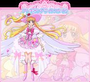 Perfil de Cure Miracle en su estilo Alejandrita (Toei Animation)