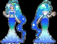 Perfiles de Cure Mermaid en su Modo Elegante Burbuja
