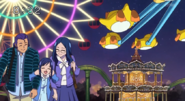 Rikka con sus padres