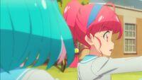STPC40 Lala looks at Hikaru in surprise