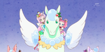 KKPCALM48-Parfait Pekorin riding crystal pegasus together