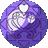 Lila heart seed