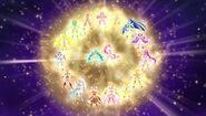 Rainbow Pretty Cure recién surgidas