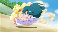 Minami salvando a Flora
