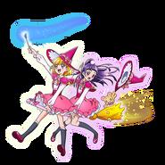 Mirai Asahina y Riko en escoba
