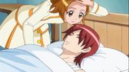 Yuko tomandole la fiebre