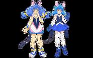 Yuni true form and human form profile