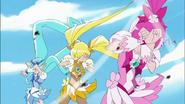 El poder de Dark Pretty Cure genera una gran ventisca