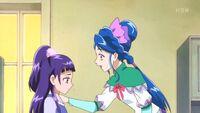 Lilia reassuring Riko