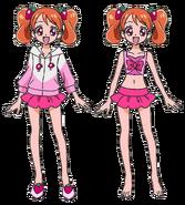 Perfiles de Ichika con traje de baño