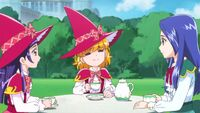 Mirai and Riko have tea with Liz