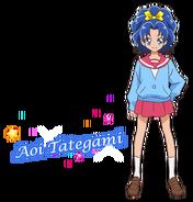 Perfil de Aoi con su uniforme escolar (TV Asahi)