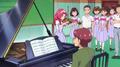 Towa playing the violin