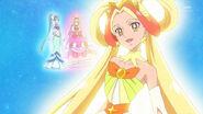 Cure Twinkle Legendaria despidiendose