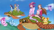 Dokidoki viajando al reino de harmonia en tortugas marinas