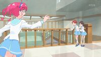 STPC35 Hikaru runs over to help a sick girl