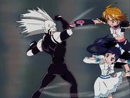 Black white pelean belzei brazaletes