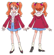Ichika atuendo pelicula con abrigo