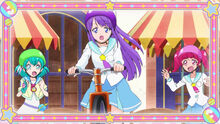 STPC09 Hikaru and Lala support Madoka as she rides a scooter for the first time