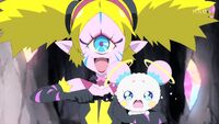 STPC19 Aiwarn tells the Cures she's gonna turn Fuwa into a Nottoriga