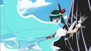 Dark Pretty Cure esquiva evade a Marine