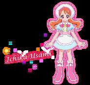 Perfil de Ichika Usami como pastelera (TV Asahi)