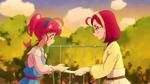 STPC18 Terumi holds her manga out to Hikaru