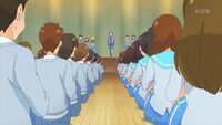 STPC41 Madoka announces the new student council to the school