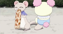 Chiffon gave Tarte a fish paste roll