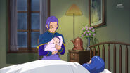 Flashback to when Riko was born