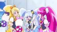 Princess pidiendole a Blue por favor que encuentre a Fortune