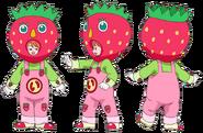 Perfiles de Ichika con disfraz de frutilla