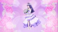 Iona vestida de princesa