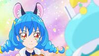 STPC21 Blue Cat tells the girls that her name is Yuni