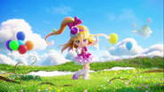 Cure Miracle en la lección mágica de Miracle y Mofurun