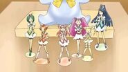 Precure 5 and Milky Rose figurines