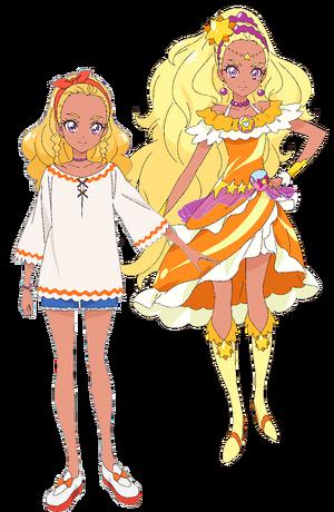 Perfiles de Elena Amamiya y Cure Soleil