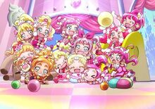 All Pink Precure Child with Hugtan