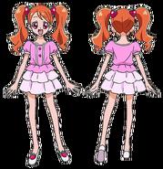 Perfiles de Ichika con su atuendo de verano