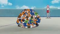 A pile of boys appear before Kotoha