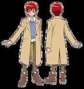 Akira atuendo pelicula con abrigo