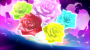YP5GG Rainbow Roses while attacking