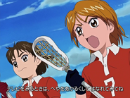 Nagisa entrenando equipo lacrosse