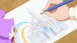 Yui's sketch of the castle