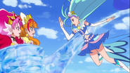 Mermaid liberando a Scarlet y Tiwnkle